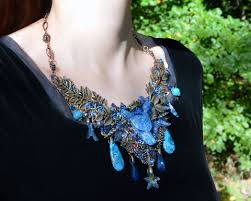 blue fashion necklace images All necklace collection herisson rose JPG