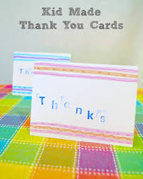 kids thank you cards kid made thank you cards inner child