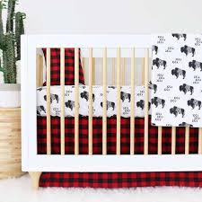 axel u0027s buffalo check baby boy crib bedding caden lane