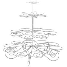 amazon com metal christmas tree cupcake stand party supplies 4