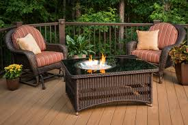 Patio Table With Firepit Chat Height Pit Tables With Burner