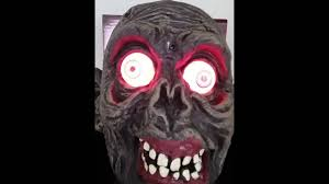 glowing eyes halloween prop talking halloween ghoul ghost zombie man u0027s head light up red eyes