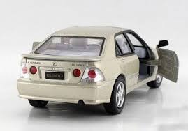 lexus is300 silver black silver yellow 1 36 diecast lexus is300