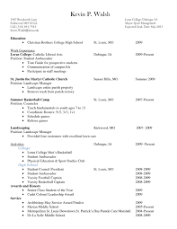 college scholarship resume example job and resume template