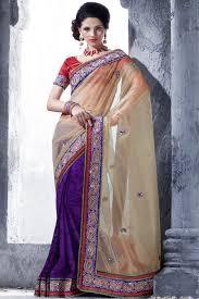 indian wedding bridal embroidered reception saree designs
