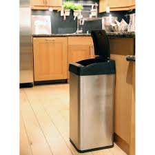 kitchen stainless steel trash cans 13 gallon 13 gallon trash
