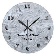 personalized wedding clocks textured glass personalized wedding large clock large clock