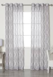 Overstock Curtains Moroccan Grommet Top Sheer Curtain Panels Interior Finishes