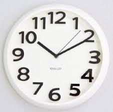 White Wall Clocks Foter - Modern designer wall clocks