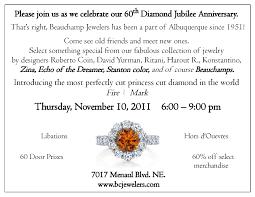 Silver Anniversary Invitation Cards Beauchamp Jewelers U2013 Albuquerque Nm 87110 Events