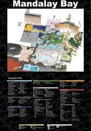 Hotel Map Of Las Vegas by Las Vegas Mandalay Bay Hotel Map