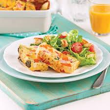 cuisiner la patate douce recettes omelette au four à la patate douce jambon et brocoli brunchs