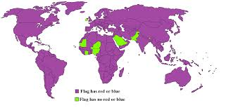 Red Flags Map Of Countries Whose Flags Contain Red Or Blue 1392x682 Mapporn