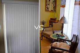 Curtains For Vertical Blind Track Goodbye Vertical Blinds Diy Choices And Fabrics