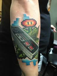 keep it retro with these awesome 8 bit tattoos retro tattoo and