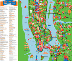 map of new york city with tourist attractions map of new york with attractions major tourist