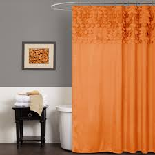 Orange Shower Curtains Lillian Shower Curtain Lush Decor Www Lushdecor