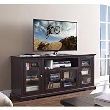 tall tv cabinet with doors elegant espresso extra tall tv stand console with glass doors