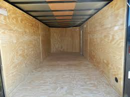 V Nose Enclosed Trailer Cabinets by Covered Wagon 7 X 16 Enclosed Cargo Trailer Ramp Door