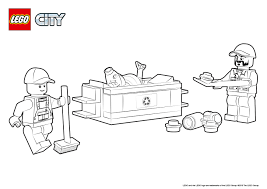 60118 garbage truck colouring page lego city activities