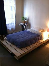 How To Make A Platform Bed From Pallets by Bed Frame Wooden Pallets Frame Decorations