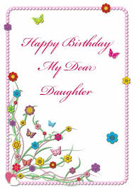 free birthday cards for daughter free printable birthday cards for
