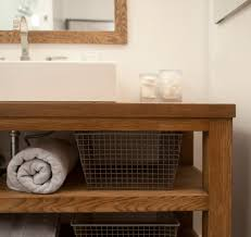 Teak Vanity Bathroom by Bathroom Baskets Design Ideas