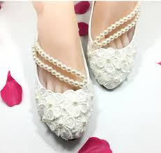 wedding shoes cork flat light ivory pearl chain flats lace wedding shoes bridal wedding
