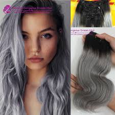 in hair extensions incomparable grey clip in human hair 1b grey hair