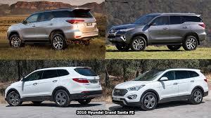 toyota fortuner vs lexus benim otomobilim 2016 toyota fortuner vs 2016 hyundai grand santa