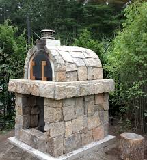 natural stone wood fired pizza oven in rhode island built with