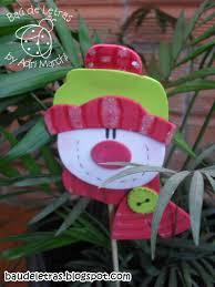 cute little snowman head ornament stick not in english navidad