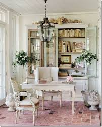 country homes interior design with chic office space