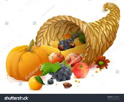 thanksgiving emoticon cornucopia rich harvest on day thanksgiving stock vector 516660811