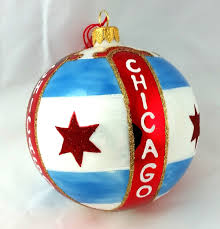 chicago flag ornament 3 mys966