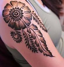 henna mehndi designs idea for shoulder tattoos ideas
