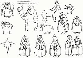 free nativity coloring pages printable coloring