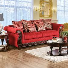 corinna ruby red chenille sofa