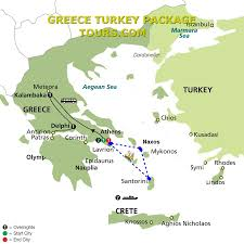 Greece Islands Map by Milos Santorini Greek Islands Tours 5days Greece Turkey Package