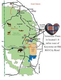 Keystone Map Contact Keystone South Dakota American Pines Cabins