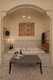 Spa Bathroom Decorating Ideas Pictures Bathroom Neat Spa Bathroom Decor Idea With Gray Ottoman And