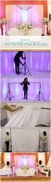 Ceiling Draping For Weddings Diy How To Set Up A Diy Wedding Backdrop Diy Pipe Pipes And Backdrops