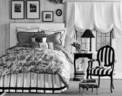 monochrome chandelier black and white bedroom accessories striped