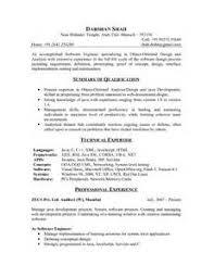 sample resume for software engineer fresher job sample resume