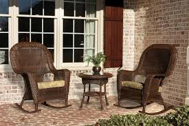 Outdoor Patio Rocking Chairs Tortuga Outdoor Lexington Wicker 3 Piece Rocker And Side Table Set