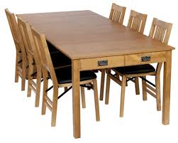 expandable console dining table as space saver for small room