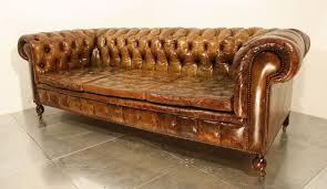 Leather Chesterfield Sofa 47 Park Avenue A Vintage 1920 U0027s Leather Chesterfield Sofa