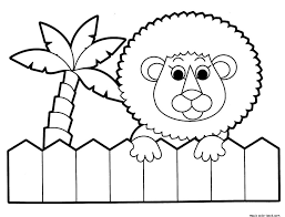 lion zoo coloring pages free printable