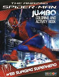 amazon com spider man coloring u0026 activity book cover art may