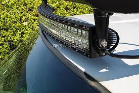 automotive led light bars 50 inch 288w 4x4 cree led car light curved led light bar off road